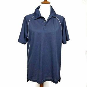 Adidas Climalite Golf Polo Navy Blue Short Sleeve